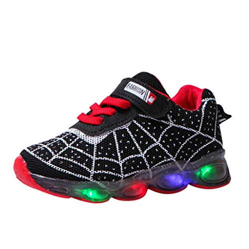 Alwayswin Unisex Kinder Turnschuhe mit LED Licht, Jungen Mädchen Sport Schuhe Mode Kinderschuhe Weiche Outdoor Lässige Laufschuhe Cartoon Sneaker Outdoor Atmungsaktiv Sportschuhe