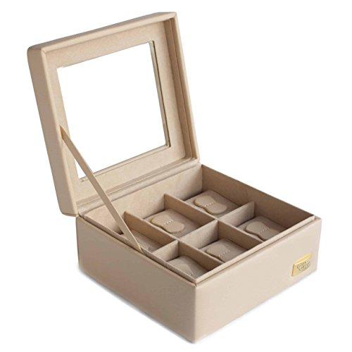 Cordays - Uhren Box – Premium Qualität – für 6 Uhren hinter Einer Glasvitrine. Handgefertigt  CDL-10004