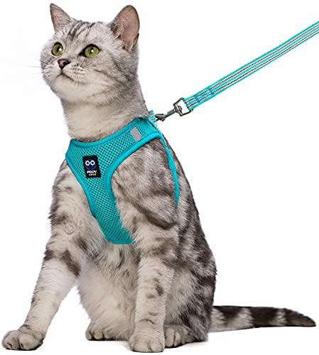 보행용 탈출증진용 고양이 HARNESS 및 LEASH 조절 가능한 반사 호흡식 연공기 메쉬 소형 중형 대형 키튼 강아지용 스텝인 이지 컨트롤 아웃도어 베스트 재킷