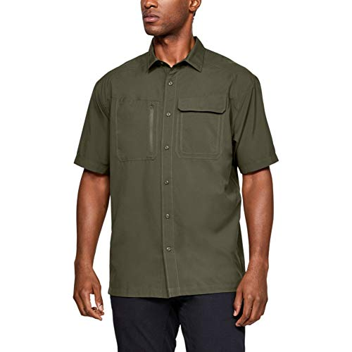 Under Armour Men's Tactical Hunter Short Sleeve T-Shirt , Marine Od Green (390)/Marine Od Green , X-Large