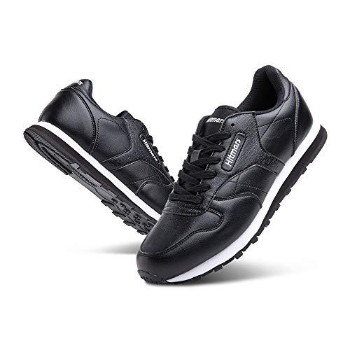 Zapatillas Hombre Mujer Casual Sneaker Gimnasio Cómodos Clásico Zapatos Deportivas Running Negro-2 3 Talla 42