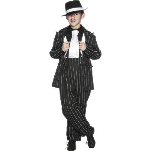 Amakando Zoot Suit Kinderkostüm Gangster Outfit Kinder 158 cm Al Capone Kostüm 30er Jahre Anzug 40er Style Mafiakostüm Jungen Kinderfasching
