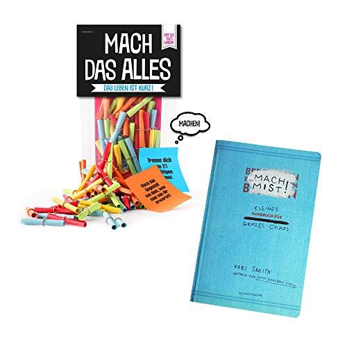Monsterzeug 2er Geschenkset, Mach das Alles Lose, Mach Mist Buch zum Ausfüllen, 50 Papierlose mit Challenges