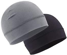 Skull Cap Helmet Liner for Men - Winter Beanie Hat for Running, Skiing, Cycling - Fits Under Helmets