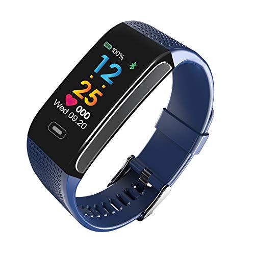 WEINANA Full Touch Smartwatch Smart Herzfrequenz Armband Sport Schrittzähler Informationen wasserdichte Bluetooth SmartWatch(Color:B.)