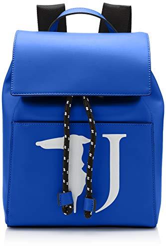 Trussardi Jeans T-Easy Backpack Monocolor, Zaino Donna, Blu (Bluette),...
