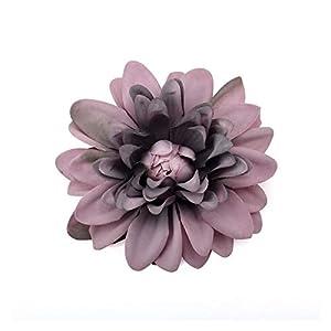 Artificial Flowers 6PCS 10cm Artificial Dahlia Silk Flower White Rose Heads for Wedding Decoration