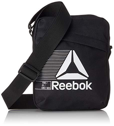 Reebok Act Fon City Bag Umhängetasche, 25 cm, Schwarz (Negro)