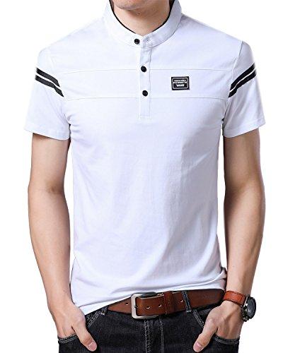 Yingqible Mens Casual Slim Fit Golf Polo Shirt Short-Sleeve Polo Golf Shirts Tops