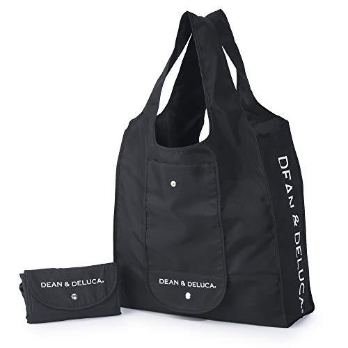 DEAN&DELUCA ショッピングバッグ ブラック エコバッグ 折りたたみ 軽量 コンパクト レジ袋 マイバッグ