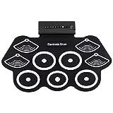 liersi 9 pad rullo elettronico fino addensare drum drum kit elettrico in silicone con bacchette e sustain pedal