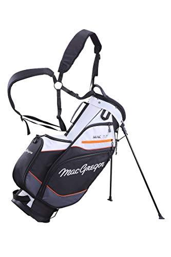 MacGregor Mactec 7.0 Sac de Golf pour Homme Argenté/Noir/Orange Taille Unique