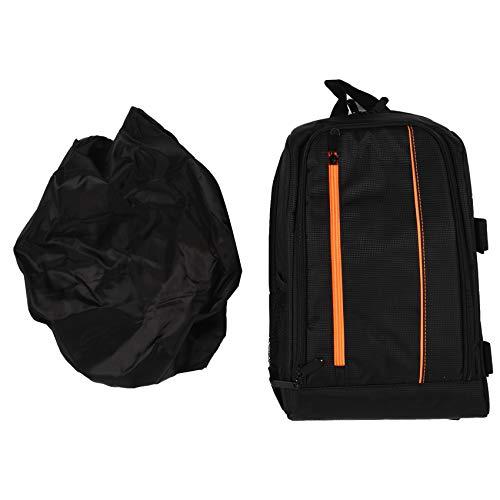 Gesh Upgrade Waterproof multi-functional Digital DSLR Camera Video Bag with Rain Cover SLR Camera Bag PE Padded for Photographer(Orange,small)
