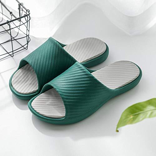 HUSHUI Suela De Espuma Suave Zapatos De Piscina,Baño baño Zapatillas Antideslizantes, Pareja Sandalias de Fondo Suave-Verde_39-40,Zapatillas de Piscina Antideslizantes Unisex