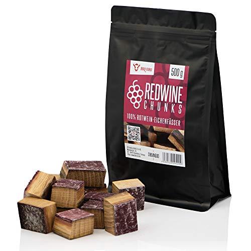 BBQ-Toro Redwine Chunks (500 g) Rotwein Räucherchunks | rauchintensive Holzchunks aus Eichenfässern | Räucherklötze für Gasgrill, Smoker, BBQ