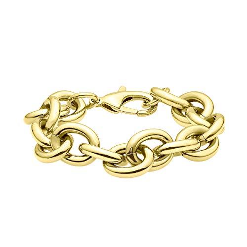 Heideman Armband Damen Panzerarmband aus Edelstahl Gold farbend matt mit Karabinerverschluss hautfreundlicher Edelstahlschmuck Panzerarmbänder
