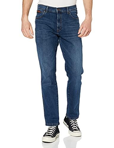 Wrangler Texas Contrast Jeans, Blu (Dark Nights 76m), 40W / 32L Uomo