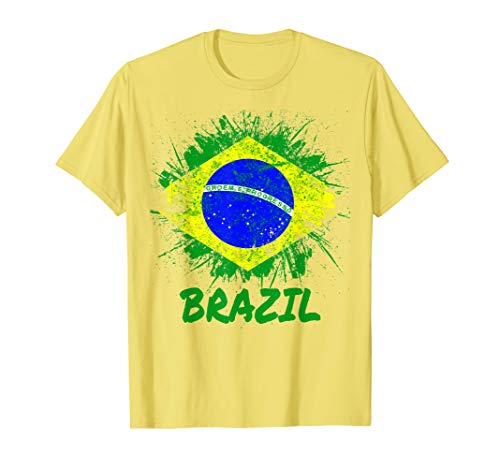 Brazil Soccer Jersey Style Flag Brasil Men Women Kids Team T-Shirt