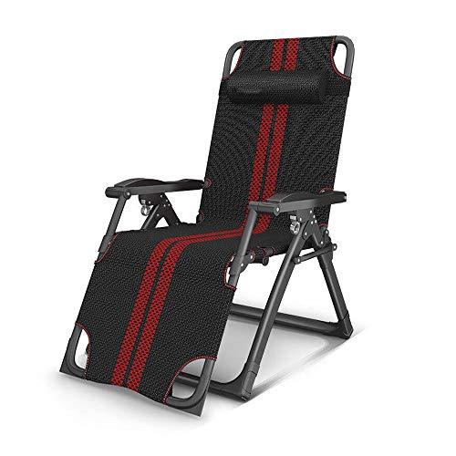 Sobredimensionado la gravedad cero acolchado reclinable Silla Tumbona Patio con 350 libras apoyo for la cabeza de soporte ajustable (negro) GAONAN