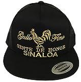 gallo fino Gente de Honor de Sinaloa hat Black mesh