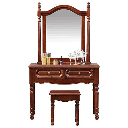 Fantastic Deal! BoeWan Practical Modern Dresser Personality Vanity Set with Mirror,Dressing Table wi...