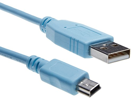 Cisco Console Cable 6 ft with USB Type A and mini-B / CAB-CONSOLE-USB=
