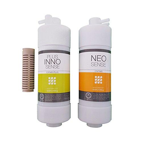 Coway Wasserfilter Umkrehrosmose-Filterset inkl. antibakteriell Filter mit und ohne Membrane, Filtersatz für Coway, Coway Filter (Filterset +antibakteriell Filter)