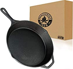 "Backcountry Cast Iron Skillet (10 Inch Medium Frying Pan, Pre-Seasoned for Non-Stick Like Surface, Cookware Oven/Range/Broiler/Grill Safe, Kitchen Deep Fryer, Restaurant Chef Quality). <a href=""https://www.amazon.com/gp/product/B074NCBC7T/ref=as_li_qf_asin_il_tl?ie=UTF8&amp;tag=ris15-20&amp;creative=9325&amp;linkCode=as2&amp;creativeASIN=B074NCBC7T&amp;linkId=c6667b646391814adf1e8245567c12e5"" target=""_blank"" rel=""nofollow noopener noreferrer""><span style=""text-decoration: underline; color: #0000ff;""><strong>Buy it on Amazon.</strong></span></a>"