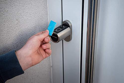 SOREX FLEX - Türschloss biometrisch mit deutschem Support! Türöffner mit Fingerabdruck und RFID Zylinder inkl. Batterien | Keine Schlüssel nötig | Keyless Smart Lock | elektronisches Schloss - 5