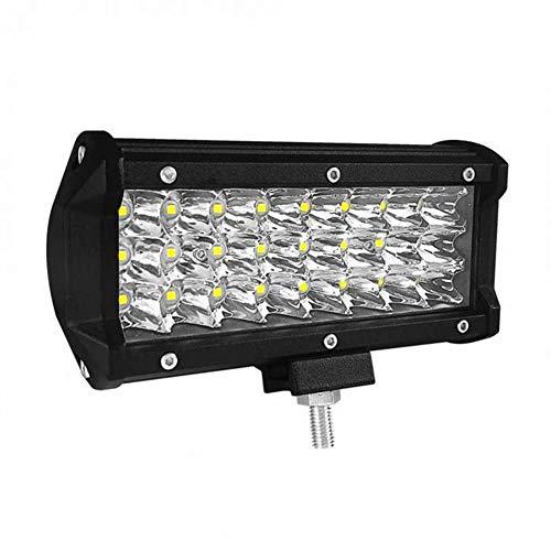 PoJu La lumière de bande de rangée de lumière de travail de LED 72W3 7 pouces de phares a été modifiée pour le travail de voiture