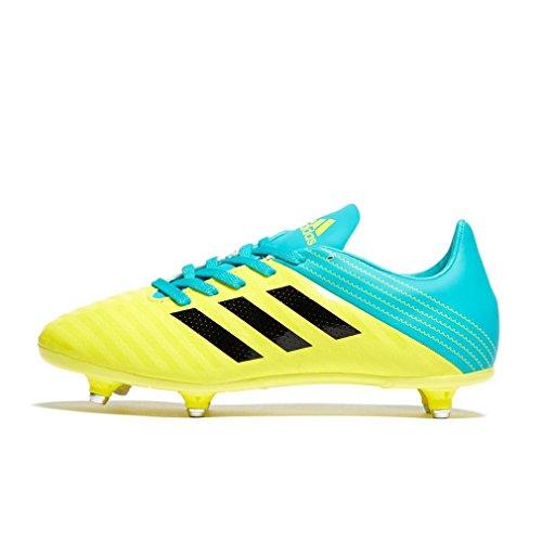 adidas Malice Junior (SG), Zapatillas de Rugby Unisex niño, Amarillo (Amasho/Negbás/Agalre 000), 28 EU