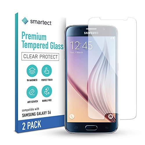 smartect Schutzglas kompatibel mit Samsung Galaxy S6 [2 Stück] - Tempered Glass mit 9H Festigkeit - Blasenfreie Schutzfolie - Anti-Kratzer Bildschirmschutzfolie
