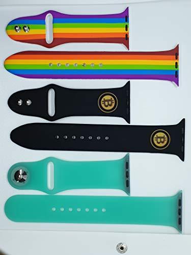 Herilea Cinturino Apple Watch 2.0: Design Innovativo, Chiusura sicura, in Morbido Silicone 38-40mm e 42-44mm per Serie 5, 4, 3, 2, 1 Modello Uomo E Donna