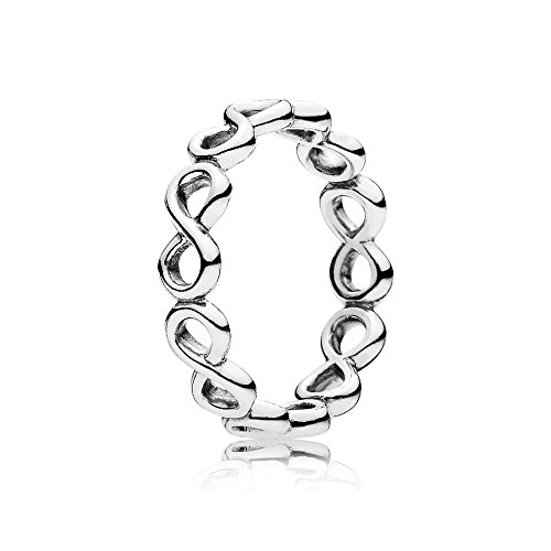 Pandora Jewelry - Simple Infinity Band Ring for Women in Sterling Silver, Size 7.5 US / 56 EURO