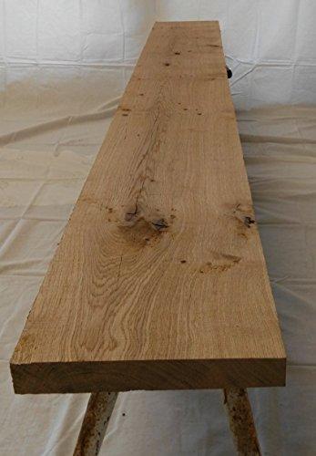 Eichenbohle/Eichenbrett - 100-220 cm lang, 30 cm breit, 4,5 cm stark – 2-seitig gehobelt, Eiche, Brett, Bohle, Holz (220 cm lang)