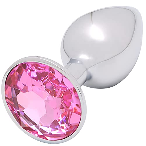 Akstore Small Super Steel Fetish Plug Anal Butt Personal Sex Massager, Pink, 5.3 Ounce
