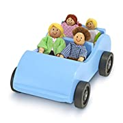 Wooden car with 4 poseable play people to keep playtime rolling Play people have flexible arms and legs and detailed clothing Sturdy wooden car rolls smoothly and quietly across most surfaces Perfect fit for the garage of Hi-Rise Dollhouse Helps teac...