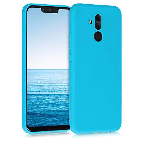 kwmobile Coque Compatible avec Huawei Mate 20 Lite - Coque Housse Protectrice pour Téléphone en Silicone Bleu Glace