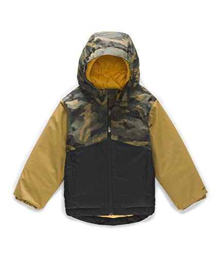 The North Face Toddler Snowquest Insulated Jacket, British Khaki Mini Waxed Camo Print, 5T