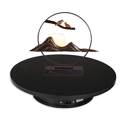 JRPT Base Giratoria Eléctrica,360° Automatico Plataforma Rotatoria Perfecto para Joyería,Producto Coleccionable/Negro /...