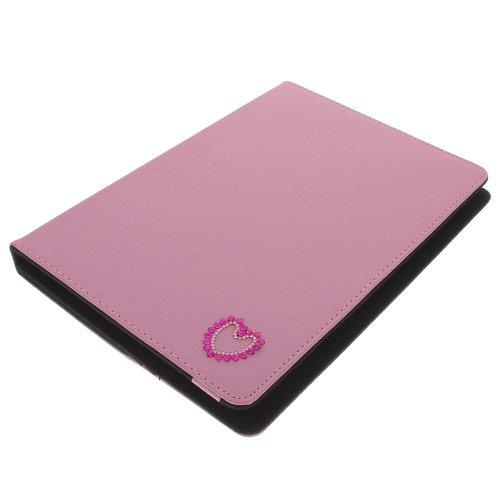 foto-kontor Tasche Strass Herz für Archos 101 Copper 101 Helium 4G Book Style Schutz Hülle Buch pink