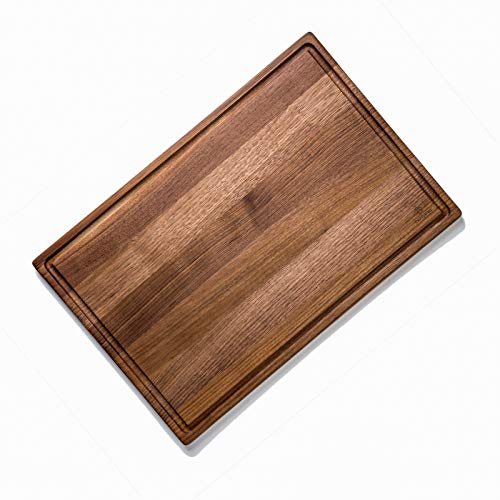 Befano Large Black Walnut Cutting Board for Kitchen, Reversible with Juice Groove, Cheese Board, Butcher Block, Serving Tray, Chopping Board for Meat, Bread, with Gift Box
