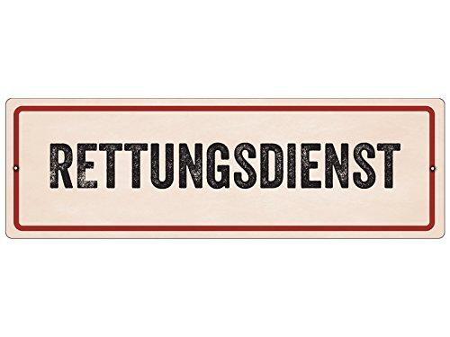 Interluxe Kunststoffschild mit Saugnapf Rettungsdienst Hinweisschild Vintage DRK Auto