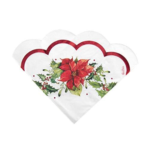 16 serviettes fleurs de Noël 33 x 33 cm