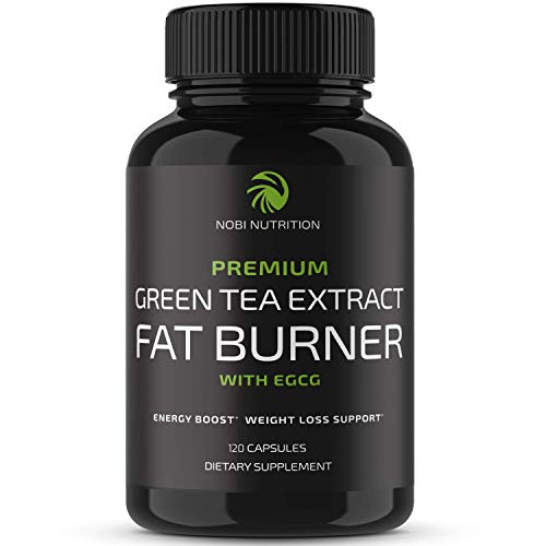 Nobi Nutrition Green Tea Fat Burner - Green Tea Extract Supplement with EGCG - Diet Pills, Appetite Suppressant, Metabolism & Thermogenesis Booster - Healthy Weight Loss for Women & Men (120 ct)