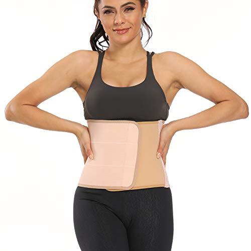 supregear Carpeta Abdominal, Respirable Ajustable Cintura Belt para Cirugía Postoperatoria para Hombres y Mujeres corsé Compresión Estomacal (Rosado, L)