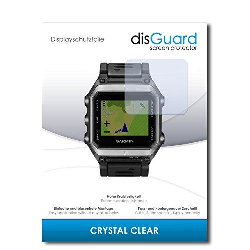 disGuard Displayschutzfolie für Garmin epix [2 Stück] Crystal Clear, Kristall-klar, Unsichtbar, Extrem Kratzfest - Displayschutz, Schutzfolie, Glasfolie, Panzerfolie