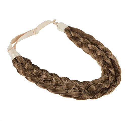 TOECWEGR Fascia per capelli intrecciata, 5 fili, stile classico, elastica e sintetica, accessorio di bellezza per donna (intreccio a 5 fili) B01