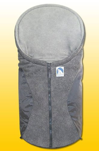 Heitmann Eisbärchen Fußsack Babyschale, Design:hellgrau/grau HG
