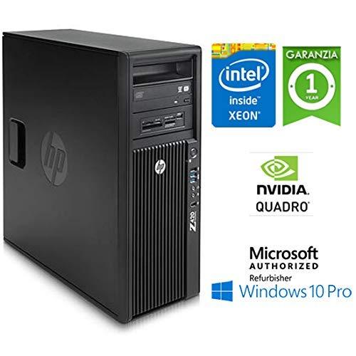 Workstation HP Z420 Xeon HEXA Core E5-1650 v2 3.5GHz 16Gb 1Tb nVIDIA QUADRO K2000 2Gb Windows 10 Professional con Licenza Nuova Simpaticotech MAR Microsoft Authorized Refurbisher (Ricondizionato)